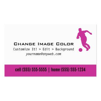 Fútbol - tarjeta de visita personal