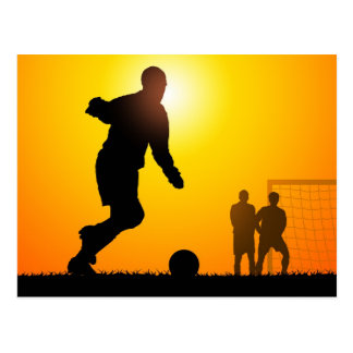 Fútbol Tarjeta Postal