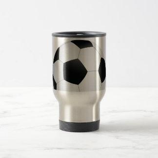 fútbol taza de viaje de acero inoxidable
