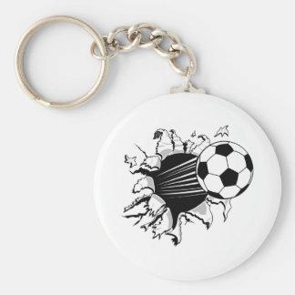 Fútbol Tearout Llavero Personalizado