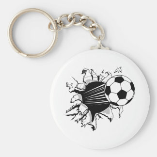 Fútbol Tearout Llavero Redondo Tipo Pin