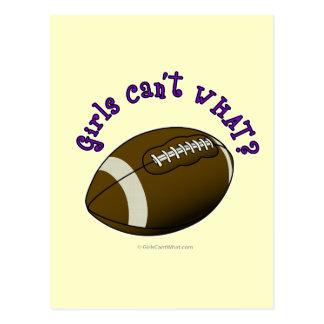 Fútbol - texto púrpura postal