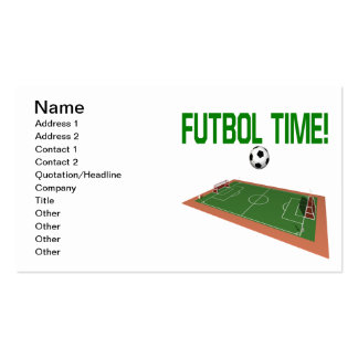 Futbol Time Double-Sided Standard Business Cards (Pack Of 100)