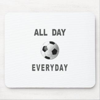 Fútbol todo el día diario tapete de raton
