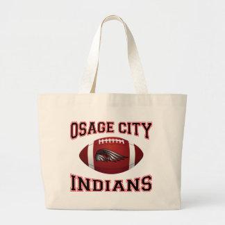 Fútbol tribal de los indios de la ciudad de Osage Bolsa Lienzo