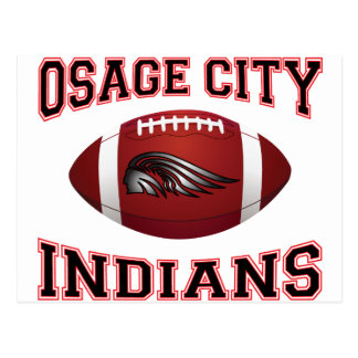 Fútbol tribal de los indios de la ciudad de Osage Postal