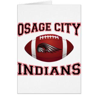 Fútbol tribal de los indios de la ciudad de Osage Tarjeta De Felicitación