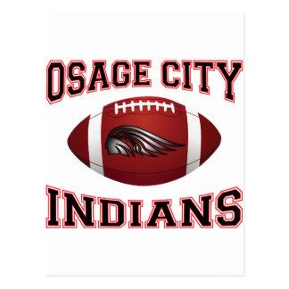 Fútbol tribal de los indios de la ciudad de Osage Tarjetas Postales