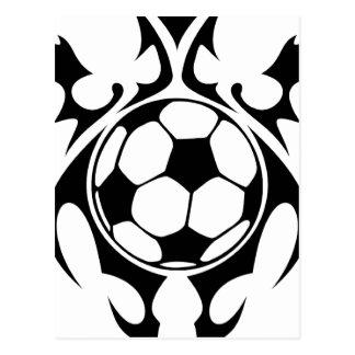 futbol. tribal postales