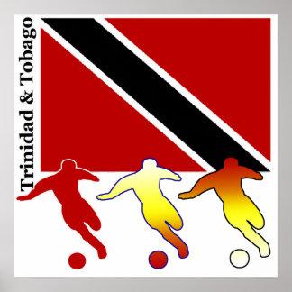 Fútbol Trinidad y poster de Trinidad y Tobago