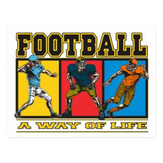 Fútbol una manera de vida postal