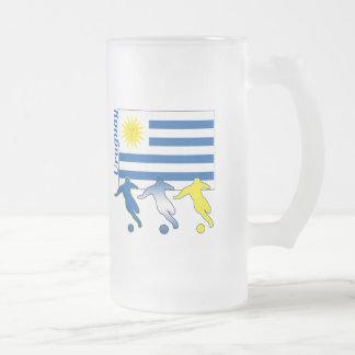 Fútbol Uruguay Taza De Cristal