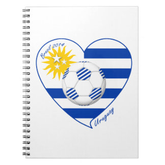 "Fútbol  ""URUGUAY"". Uruguayan national soccer team Libro De Apuntes Con Espiral"
