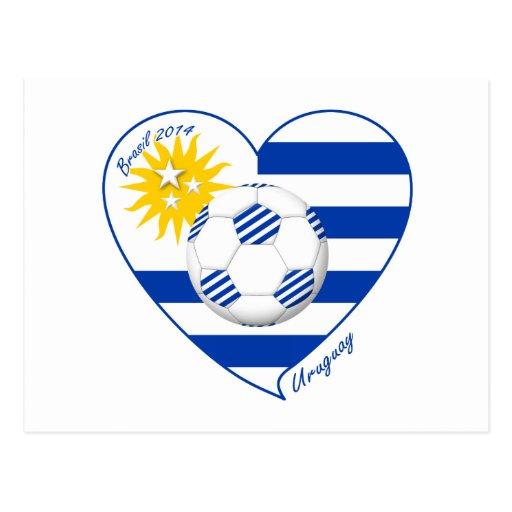 "Fútbol  ""URUGUAY"". Uruguayan national soccer team Tarjeta Postal"