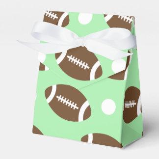 Fútbol verde claro, lunares blancos cajas para regalos de fiestas