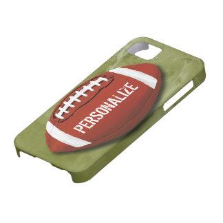 Fútbol verde personalizado del Grunge Funda Para iPhone 5 Barely There