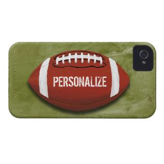 Fútbol verde personalizado del Grunge iPhone 4 Carcasa