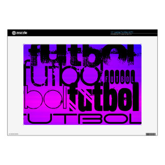 """Futbol; Vibrant Violet Blue and Magenta Decal For 15"""" Laptop"""