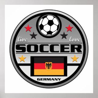 Fútbol vivo Alemania del amor Posters