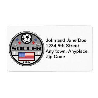 Fútbol vivo América del amor Etiquetas De Envío