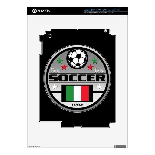Fútbol vivo Italia del amor iPad 3 Pegatinas Skins
