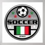 Fútbol vivo Italia del amor Posters