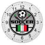 Fútbol vivo Italia del amor Relojes De Pared