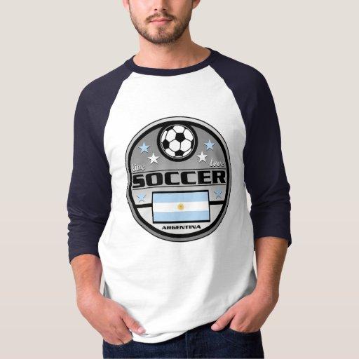 Fútbol vivo la Argentina del amor Playera
