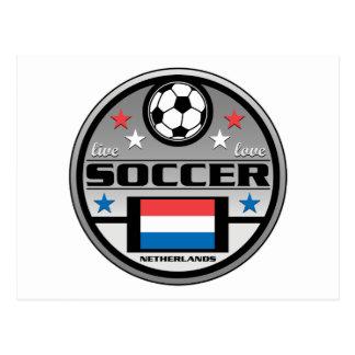 Fútbol vivo Países Bajos del amor Tarjeta Postal