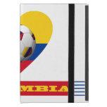 FÚTBOL y bandera nacional de COLOMBIA 2014 iPad Mini Funda