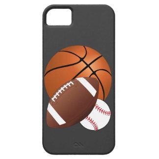 Fútbol y béisbol del baloncesto de las bolas de iPhone 5 carcasa