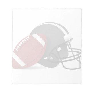 Fútbol y casco bloc de notas