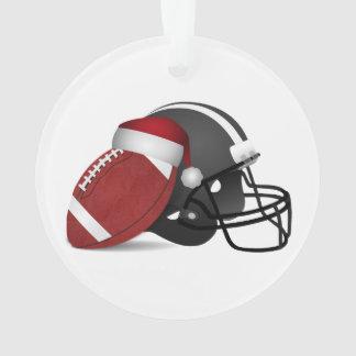 Fútbol y casco del navidad
