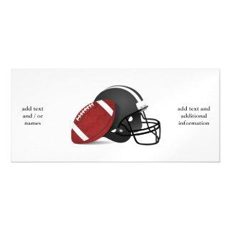 Fútbol y casco invitaciones magnéticas