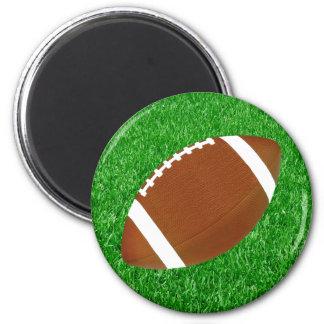 Fútbol y césped imán redondo 5 cm