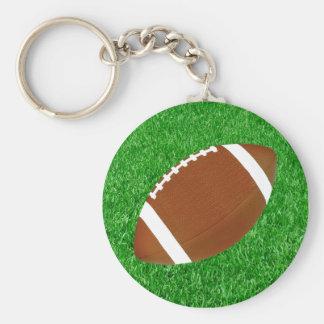 Fútbol y césped llavero redondo tipo pin