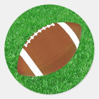 Fútbol y césped pegatina redonda