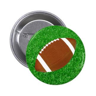 Fútbol y césped pin redondo de 2 pulgadas