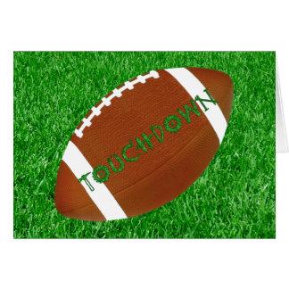 Fútbol y césped tarjeta de felicitación