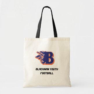 Fútbol y el animar de la juventud del resplandor d bolsa tela barata