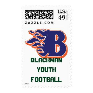 Fútbol y el animar de la juventud del resplandor sello