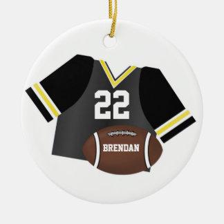 Fútbol y ornamento personalizado jersey del recuer adornos de navidad