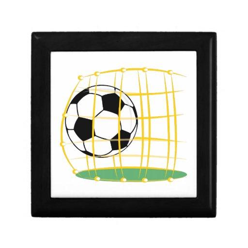 Fútbol y red caja de recuerdo