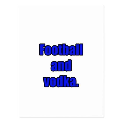 Fútbol y vodka postal
