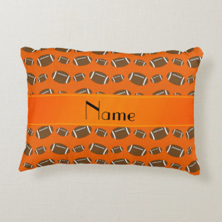 Fútboles anaranjados conocidos personalizados cojín decorativo