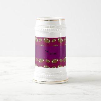 Fútboles conocidos personalizados de la púrpura jarra de cerveza