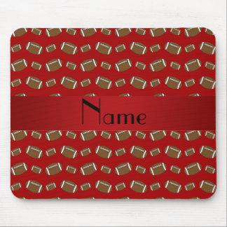 Fútboles rojos conocidos personalizados tapetes de ratón