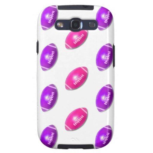 Fútboles rosados y púrpuras galaxy s3 cobertura