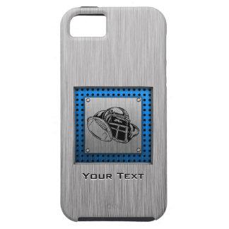 Futbolista cepillado de la mirada del metal iPhone 5 cárcasa