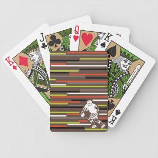 Futbolista colorido del diseñador de las rayas baraja cartas de poker